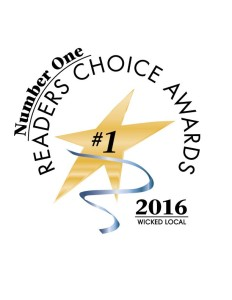 Readers Choice Award for 2016 by Wicked Local