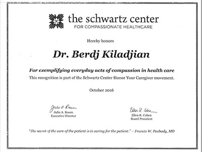 Shwartz Center Compassion in Healthcare Award