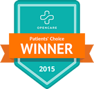 Patients Choice Award 2015 by OpenCare.com