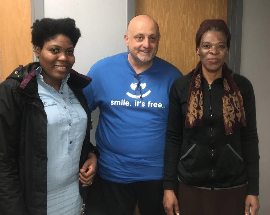 Brookline dentist with two patients