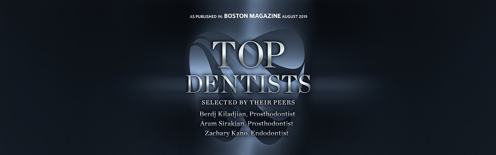 Boston Magazine award for Top Dentists