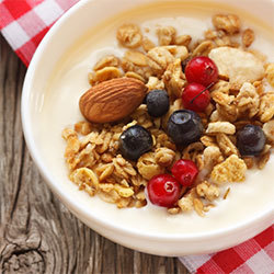 oatmeal with blueberries and cranberries
